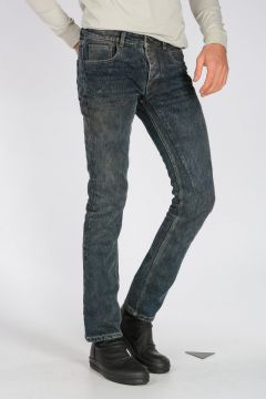 Jeans DETROIT CUT in Cotone HUSTLER BLUE 18 cm