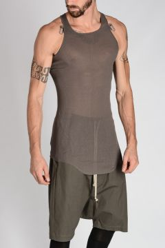 TOP BASIC RIBBED TANK Sleeveless T-shirt darkdust