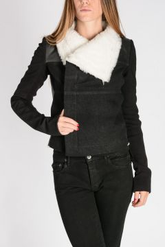 DRKSHDW Cotton Lamb Fur BIKER Jacket