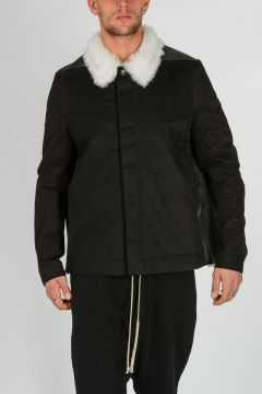 DRKSHDW Lamb Fur Cotton TRUCKER Jacket