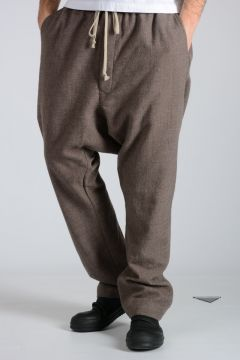 Pantaloni DRAWSTRING LONG in Lana Vergine DNA DUST
