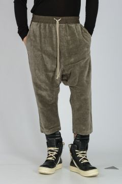 Pantaloni DRAWSTRING CROPPED in Cotone e Lino DARK DUST
