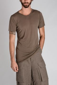 T-Shirt BASIC SHORT SLEEVES TEE in Misto Seta DNA DUST
