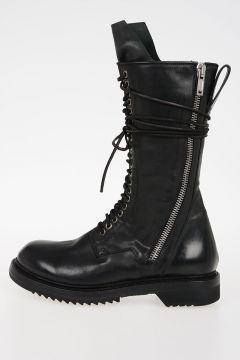 Leather DB ZIP LACE UP BOOT