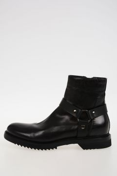 Leather CREEPER SLIM HARNESS Boots