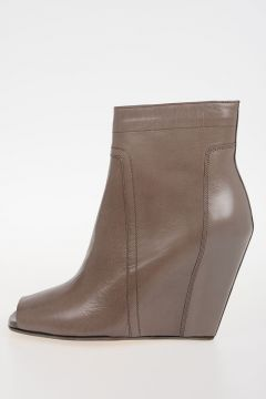 Leather OPEN TOE WEDGE Boots