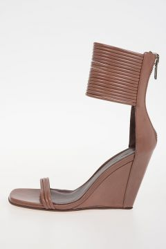 Sandalo MIGNON ANKLE STRAP WEDGE in Pelle 10cm THROAT