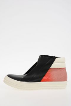 Leather ISLAND DUNK COMBO LIZARD Sneakers BLACK/CORAL/MILK