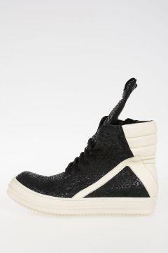 Leather GEOBASKET Sneakers BLACK/MILK/WB