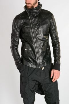 BULLET Hooded Leather Jacket