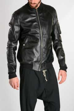 Leather RAGLAN BOMBER Jacket