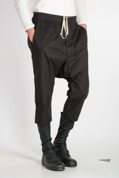 Pantaloni DRAWSTRING CROPPED in Cotone