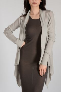 Virgin Wool MEDIUM WRAP Cardigan DINGE