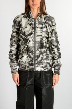 Cotton & Silk SWOOP FLIGHT Jacket DINGE/BLK