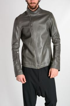 Leather MOLLINO'S BIKER Jacket in DARK DUST
