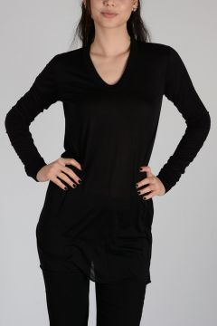 Silk V NECK LONG SL T-shirt