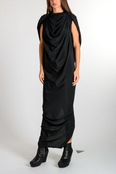 Satin CLAUDETTE LONG Dress