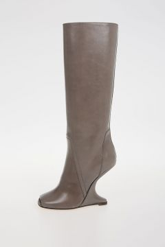 11cm leather CANTILEVERED BOOTs