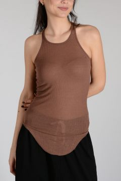 Viscose and Silk BASIC RIB Tank THROAT