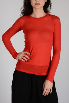 Viscose and Silk LONG SLEEVES T-shirt