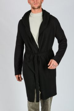 Cashmere BLACK SPA ROBE Cardigan