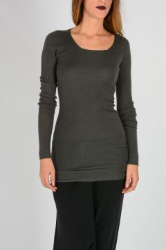 ROUND NECK Sweater in DARK DUST