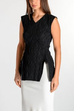 Top V NECK CALPURNIA in Misto cotone