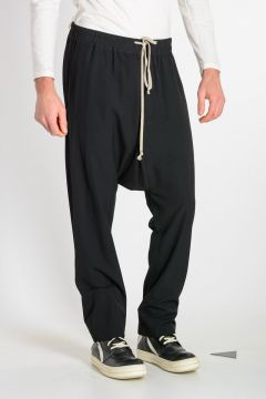 Pantaloni DRAWSTRING LONG in Misto Lana