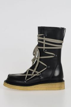 Leather LACE UP CREEPER Boots