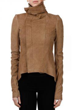 Leather NASKA BIKER Jacket MUSTARD