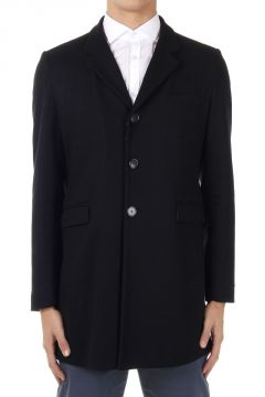 Single breasted virgin wool mixed coat
