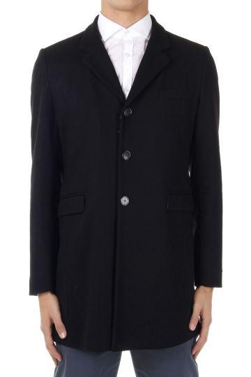 Cappotto monopetto misto lana vergine