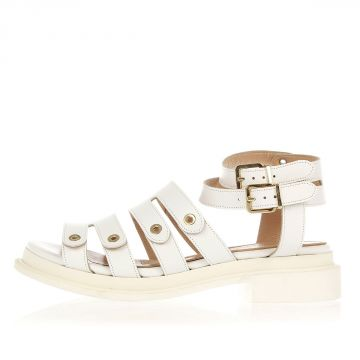 CAROUBE Leather Sandal