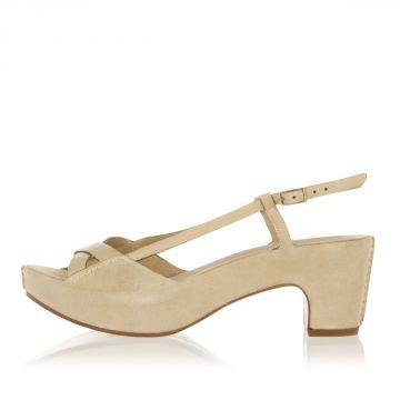 Suede Sandal Heel 6.5 cm