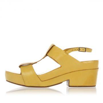 Sandalo in Pelle con Tacco 7 cm