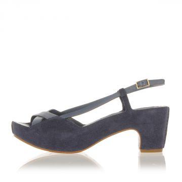 Suede Leather Sandal Heel 7 cm