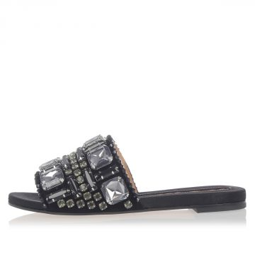 Leather BONITA Slipper With Jewel Details