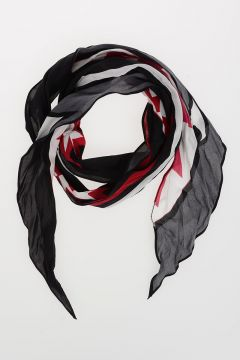 Fringed Silk SHARK Scarf 180x20 cm