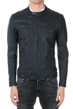 Leather Jacket With Zip Details