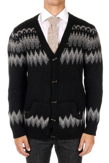 Cardigan Con Scollo V  in Cashmere