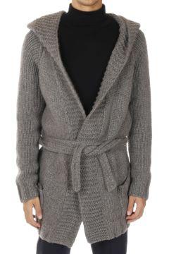 Cardigan Oversize in Cashmere con cintura