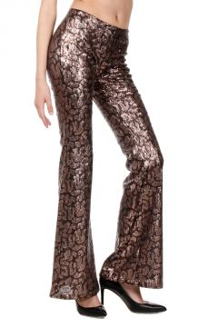 Bell-bottom Trousers with Paillettes