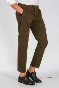 WHITE Pantaloni Chino Cropped in Cotone Stretch