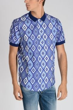 Cotton Printed Polo Tee