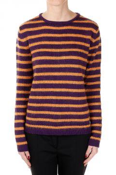Virgin Wool Blend Round Neck Sweater