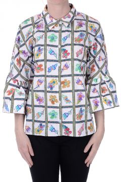 GIORNALISTA Flower Print Blouse