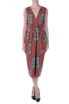 TELECRONISTA Printed Cotton Dress