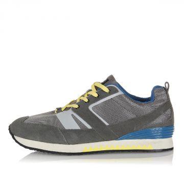 Sneakers PISTA in Tessuto Tecnico e Pelle