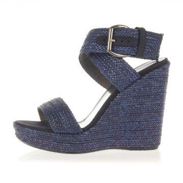 Sandalo ENCORE in Tessuto con Zeppa 12 cm