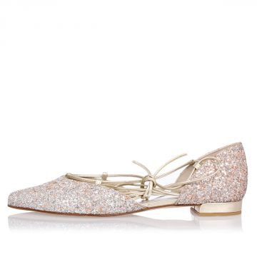 Glittered GILLIGAN Flats Ballet